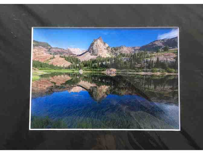 Bret Edge: Sundial Peak with Lake Blanche Utah 8x10 Matted Photograph