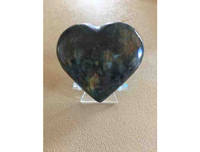 Labradorite Heart from Moab Rock Shop!