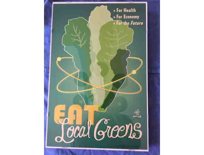 Victory Garden of Tomorrow, Professionally Framed Poster- Eat Local Greens