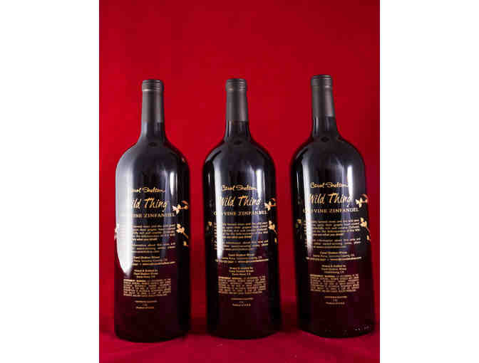 Three Wild Thing Magnums Signed by Carol Shelton