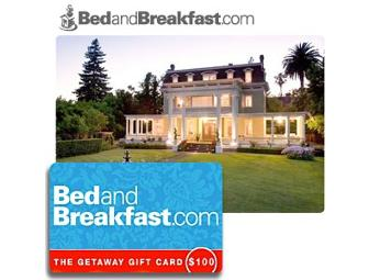 Bed and Breakfast.com $100 Gift Card