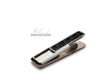 Black Alligator Moneyclip