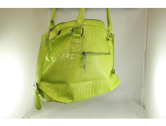 Handbag by FLAMENCO - Green/PistachColor - Brand New- Designed for Saint Clare School Only