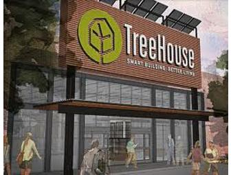 Treehouse Gift Card, Bucket, and Water Bottle