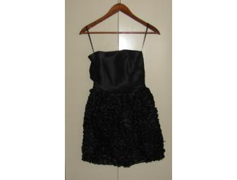Tiered Ruffle Silk Strapless Dress - Size 6