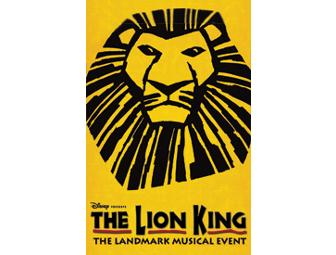 (2) tickets to THE LION KING on Broadway
